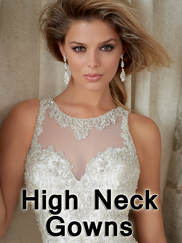 High Neck Wedding Gowns