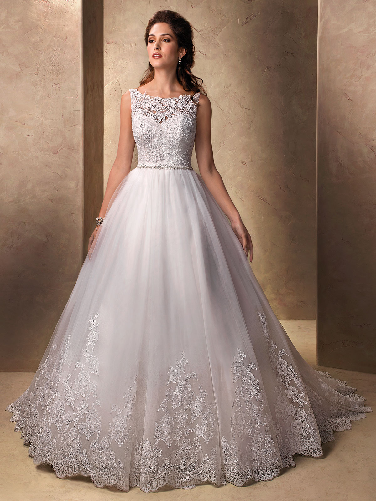 Wedding Dresses With Illusion Bodice : Sheer bodice ball gown wedding dress viewing gallery