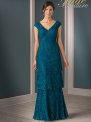 Jade Couture K188007 V-neck Lace Mother Of The Bride Dress