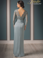 Jade Couture K188012 V-neck Lace Mother Of The Bride Dress