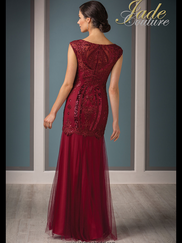 Jade Couture K188014 Cap Sleeves Mother Of The Bride Dress
