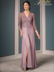 Jade Couture K188015 V-neck Mother Of The Bride Dress
