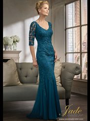 Jade Couture K198007 V-neck Mother Of The Bride