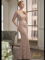 Jade Couture K198013 Scoop Neckline Mother Of The Bride