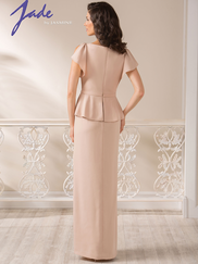 Jade J185004 Peplum Mother Of The Bride Dress