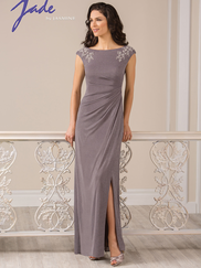 Jade J185011 Cap Sleeves Mother Of The Bride Dress