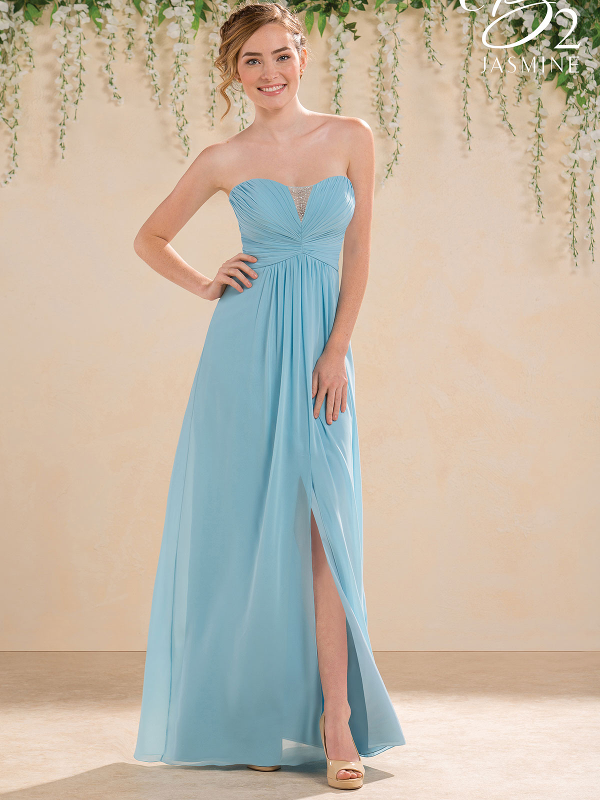 Jasmine B183009 Sweetheart Chiffon A-line Bridesmaid Dress ...