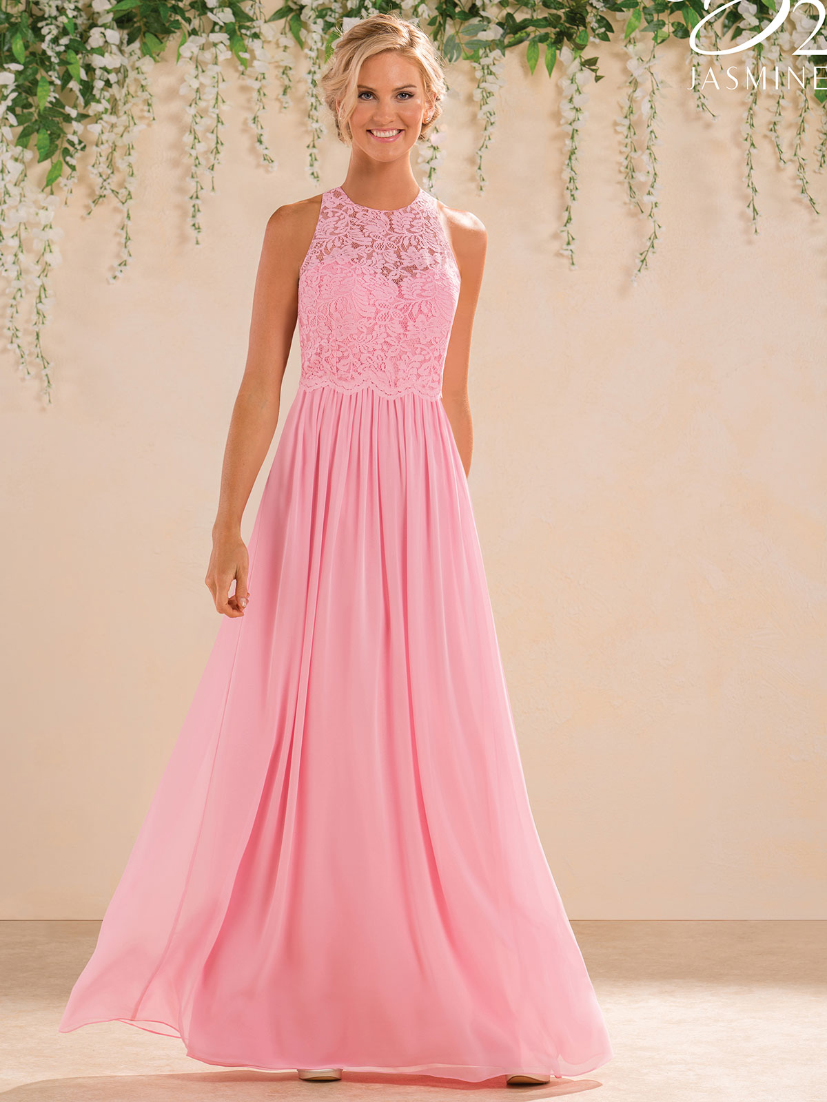 Jasmine b183017 high neck chiffon a line bridesmaid dress jasmine b183017 high neck lace bridesmaid dress ombrellifo Images