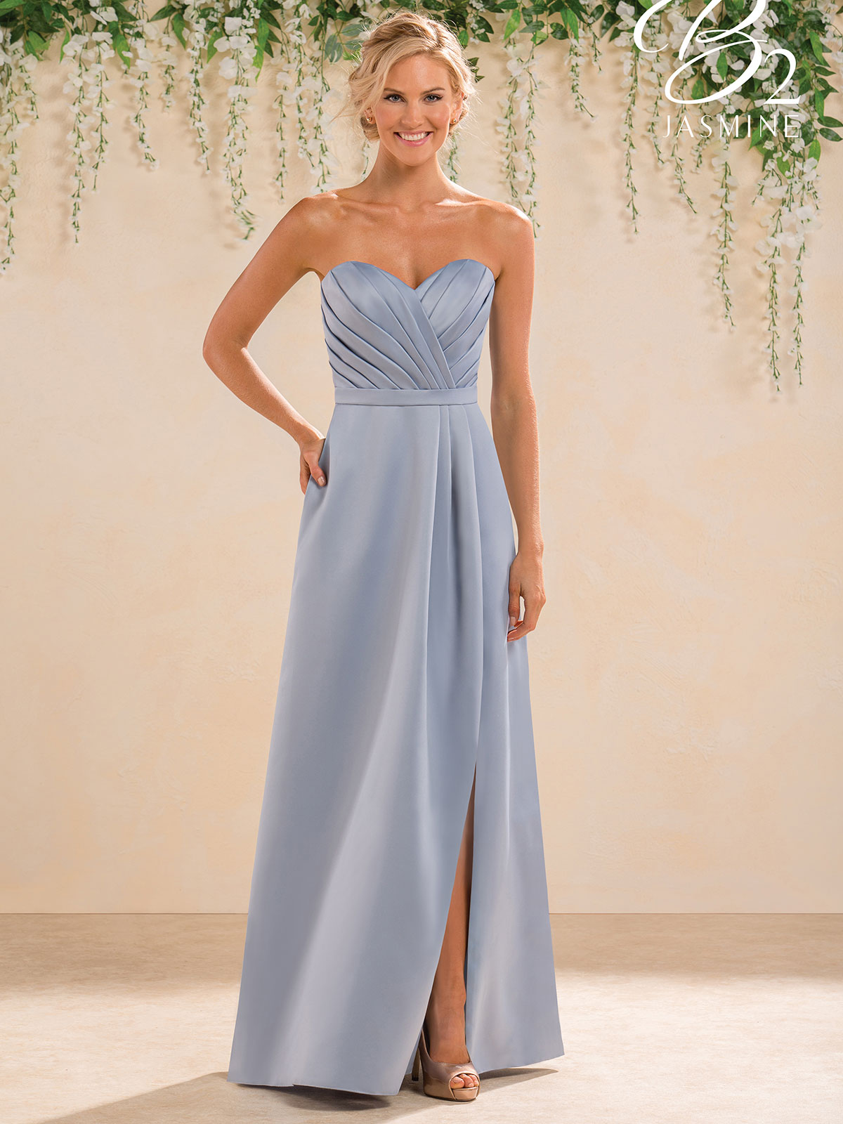 Jasmine b183019 sweetheart satin a line bridesmaid dress jasmine b183019 sweetheart pleated bridesmaid dress ombrellifo Images