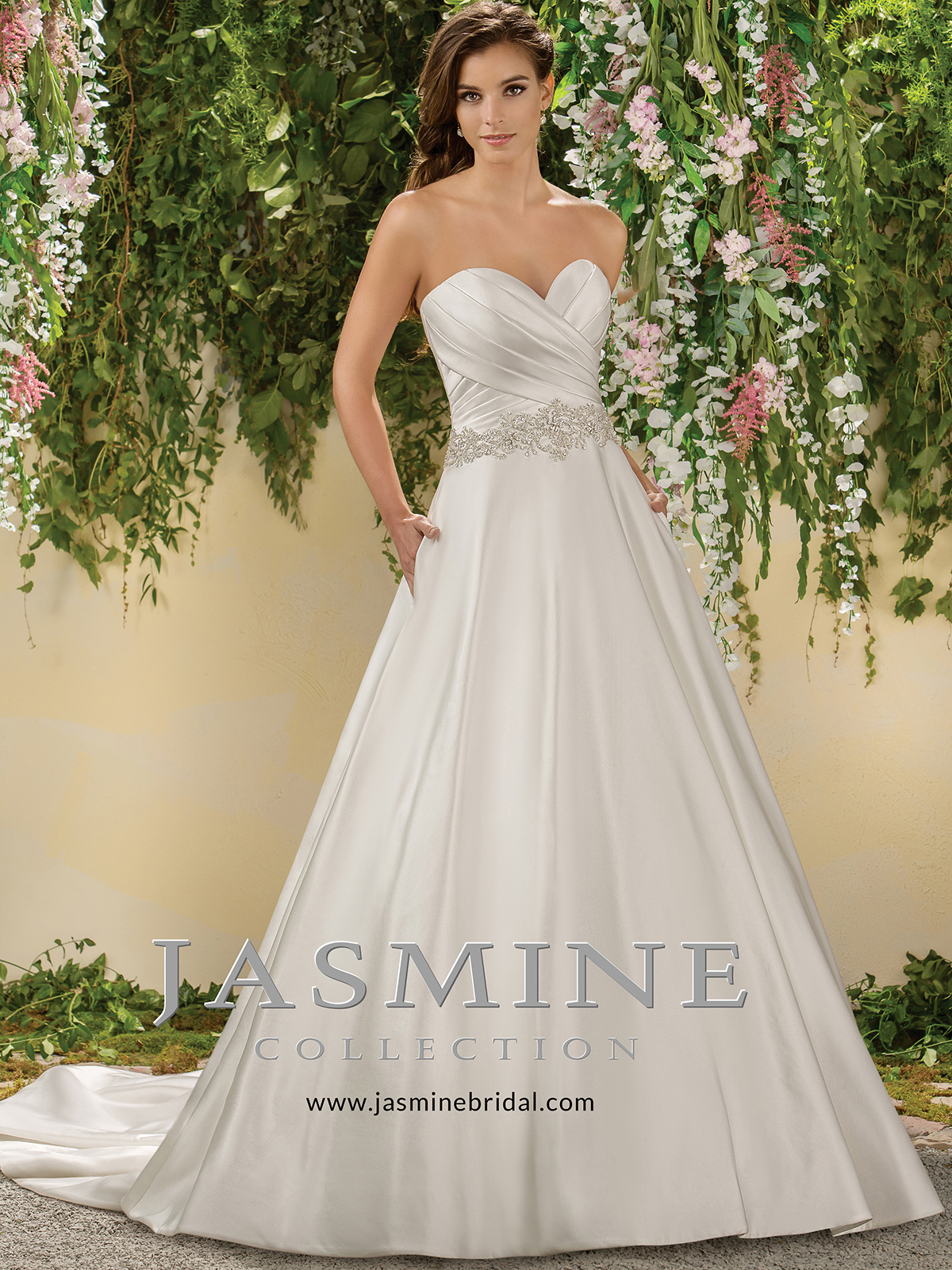 Jasmine f181008 sweetheart satin a line wedding dressdimitradesigns jasmine f181008 sweetheart pleated wedding dress junglespirit Gallery