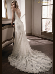 Jasmine T192004 V-neckline Wedding Dress