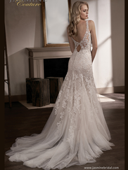 Jasmine T192007 V-neckline Wedding Dress