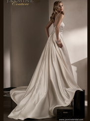 Jasmine T192009 Plunging Neckline Wedding Dress
