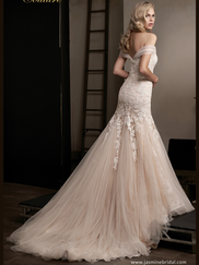 Jasmine T192011 Off The Shoulder Wedding Dress