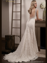 Jasmine T192012 V-neckline Wedding Dress