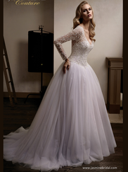 Jasmine T192013 V-neckline Wedding Dress