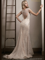 Jasmine T192014 V-neckline Wedding Dress