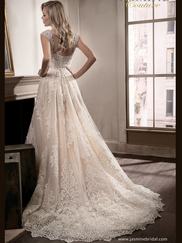 Jasmine T192016 Cap Sleeves Wedding Dress