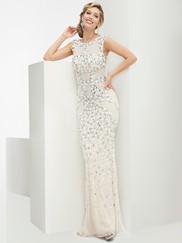 Jasz Couture 5950 High Neck Prom Gown
