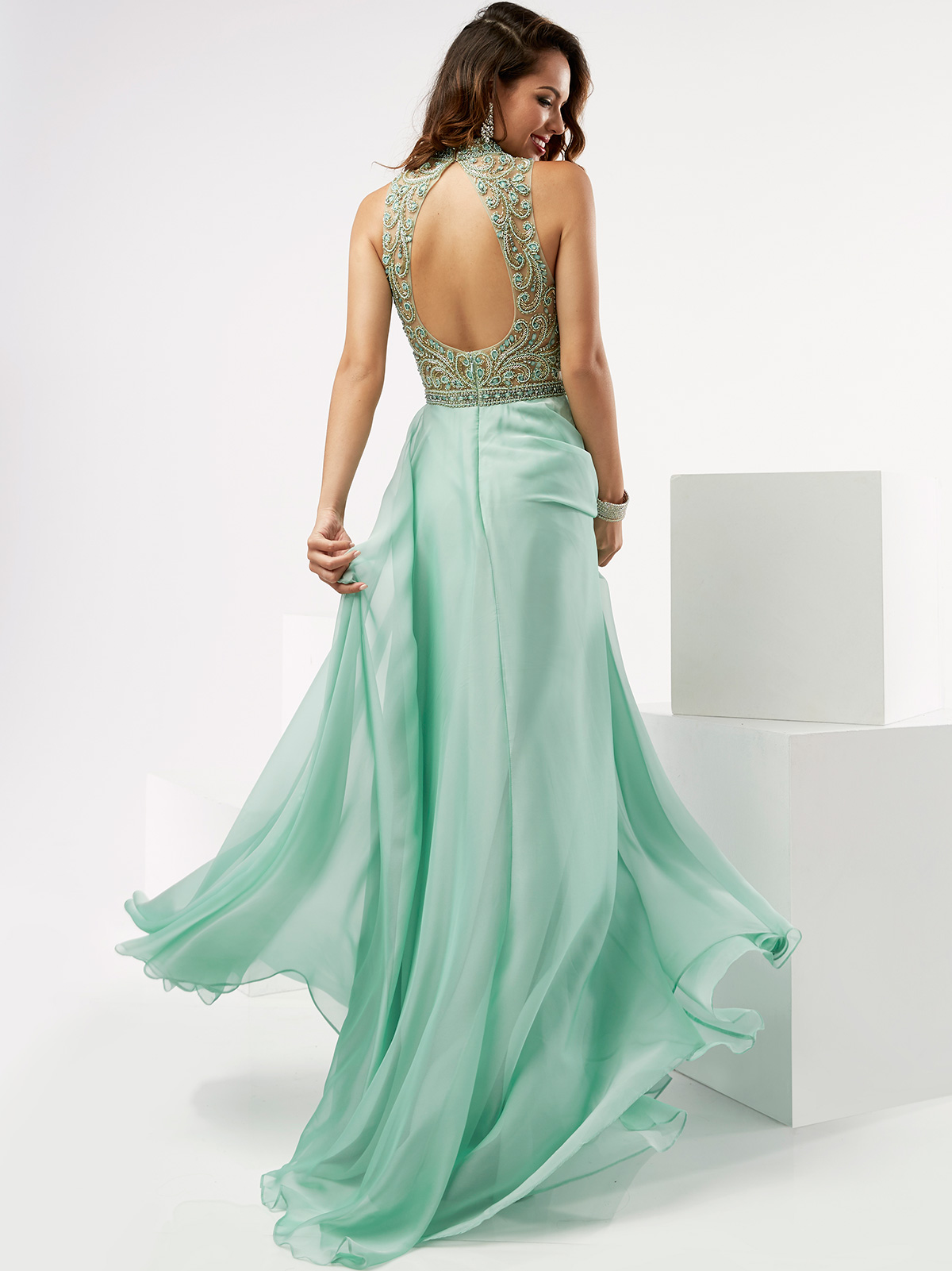 Jasz Couture 5979 High Neck Beaded Prom Gown DimitraDesigns.com