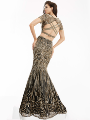 Jasz Couture 6001 High Neck Prom Gown