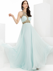 Jasz Couture 6004 Beaded High Neck Prom Gown