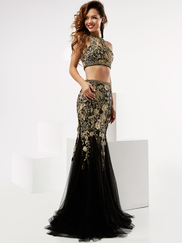 Jasz Couture 6009 Two Piece Beaded Prom Gown