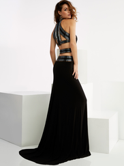 Jasz Couture 6012 Halter Prom Gown