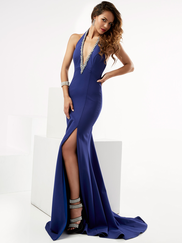 Jasz Couture 6015 Halter Prom Gown