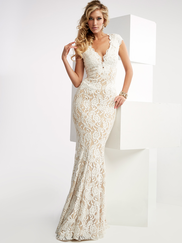 Jasz Couture 6025 Cap Sleeves Prom Gown