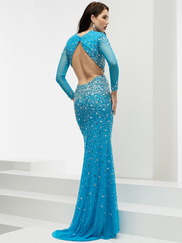 Jasz Couture 6026 Long Sleeves Beaded Prom Gown
