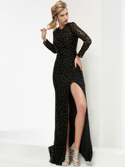 Jasz Couture 6033 Long Sleeves Prom Gown