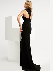 Jasz Couture 6057 High Neck Prom Gown