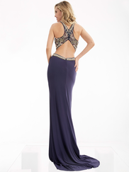 Jasz Couture 6058 High Neck Beaded Prom Gown