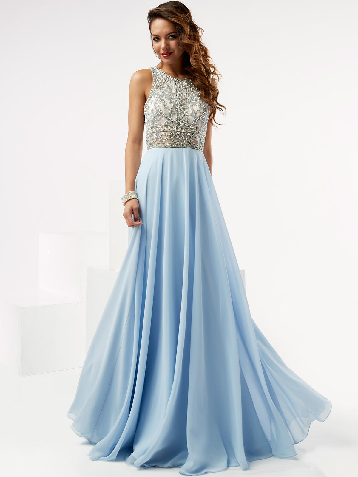 Jasz Couture 6072 High Neck Beaded Prom Gown|DimitraDesigns.com