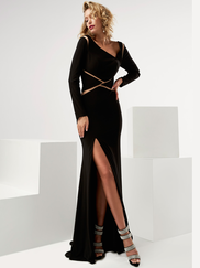 Jasz Couture 6091 Long Sleeves Prom Gown
