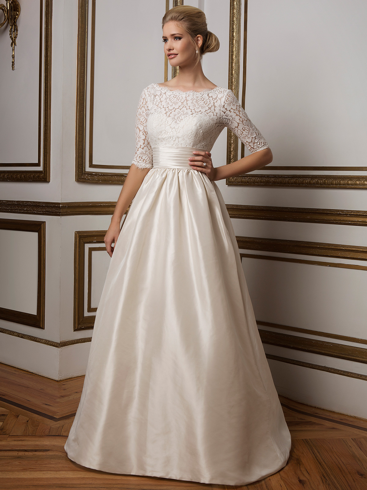 Justin Alexander 8816 Mikado Ball Gown Bridal Dress|DimitraDesigns.com