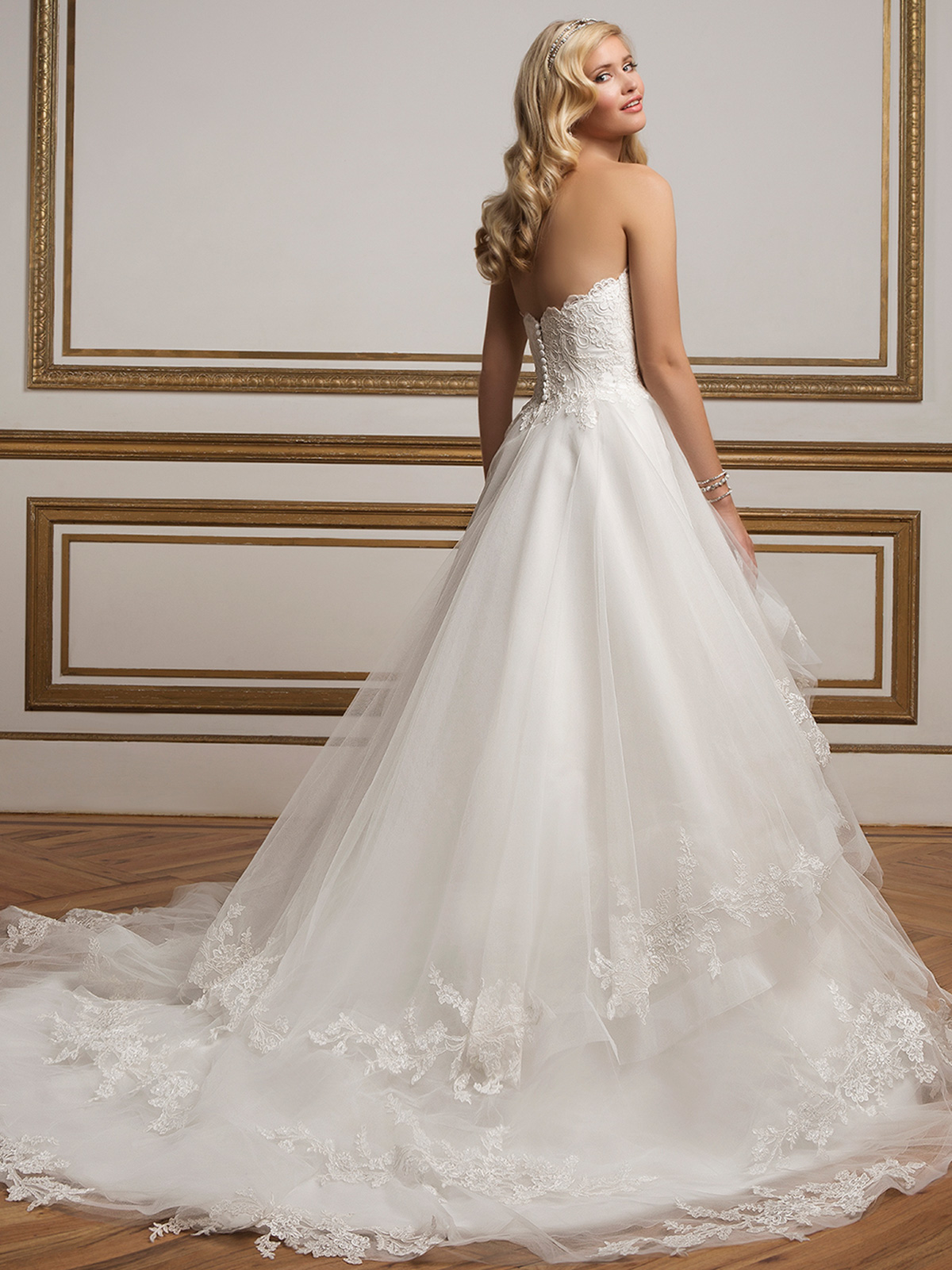 Tulle Tiered Ball Gown Justin Alexander