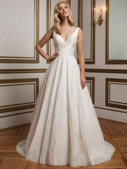 Justin Alexander 8824 V-neck Wedding Dress