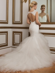 Justin Alexander 8827 V-neck Beaded Wedding Dress