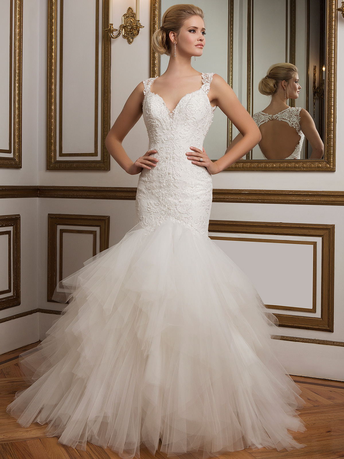 Open Back Wedding Gowns | DimitraDesigns.com