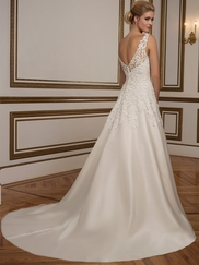 Justin Alexander 8835 Sabrina Illusion Neckline Wedding Dress