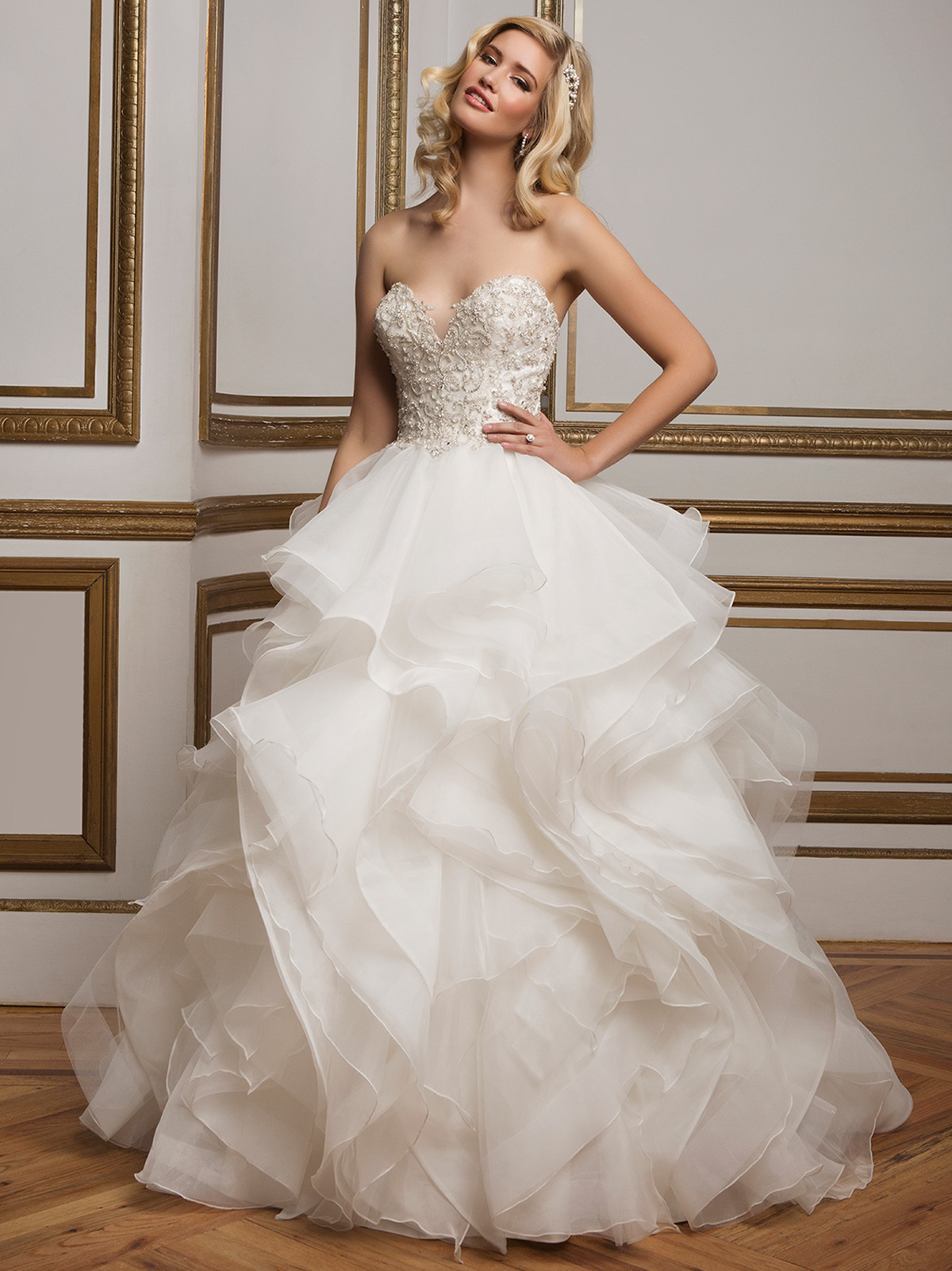 Justin alexander 8845 sweetheart beaded ball gown bridal for Beading for wedding dress