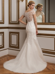 Justin Alexander 8846 V-neck Beaded Wedding Dress