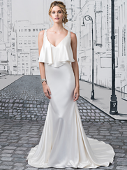 Justin Alexander 8876 V-neck Wedding Dress