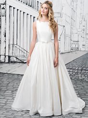 Justin Alexander 8877 Sabrina Neckline Wedding Dress
