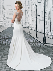 Justin Alexander 8878 Sabrina Neckline Wedding Dress