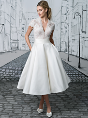 Justin Alexander 8881 V-neck Wedding Dress