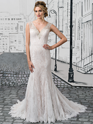 Justin Alexander 8882 V-neck Wedding Dress