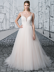 Justin Alexander 8886 Sabrina Neckline Wedding Dress